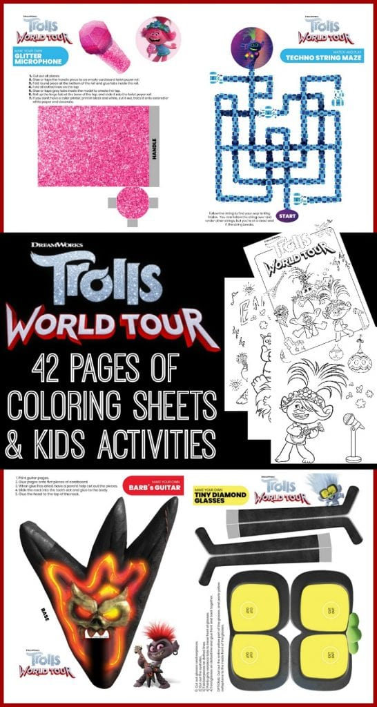 Trolls world tour coloring pages free